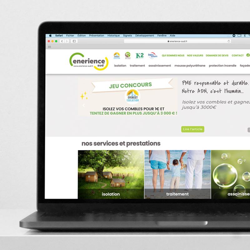 Enerience Sud Site Internet Web