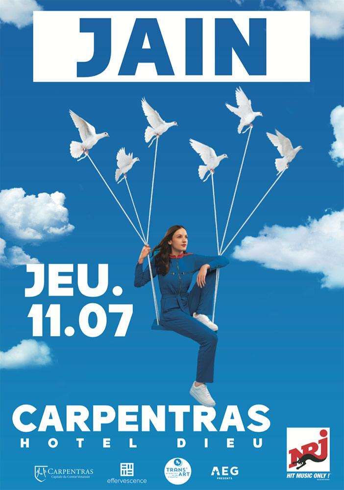 Concert Jain Carpentras 2019 –  Agence Effervescence Avignon