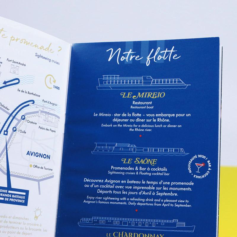 Les Grands Bateaux De Provence – Brochure commerciale – Agence Effervescence Avignon