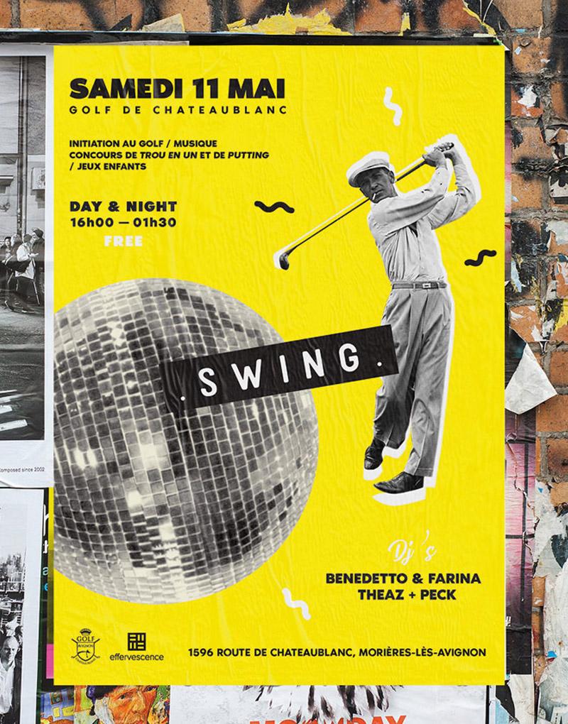 Swing Affiche Golf Avignon