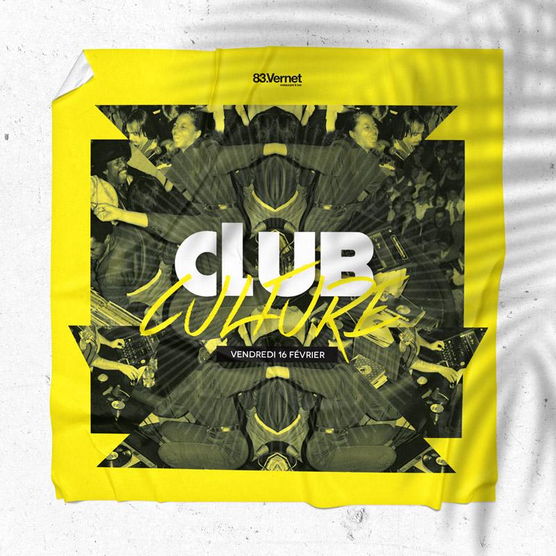 Flyer – Club Culture – Agence Effervescence Avignon