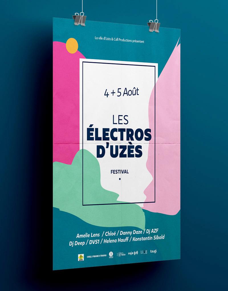 Affiche – Les électros d'Uzès 2017 – Agence Effervescence Avignon