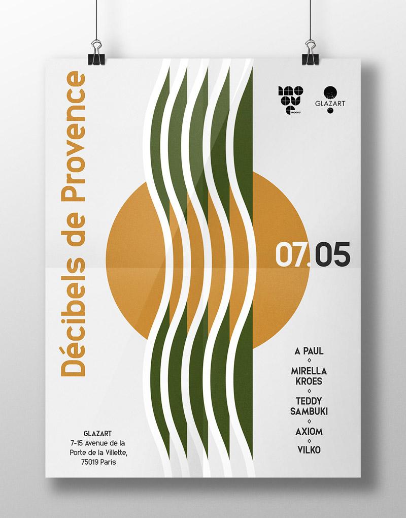 Affiche – Décibels de Provence – Agence Effervescence Avignon