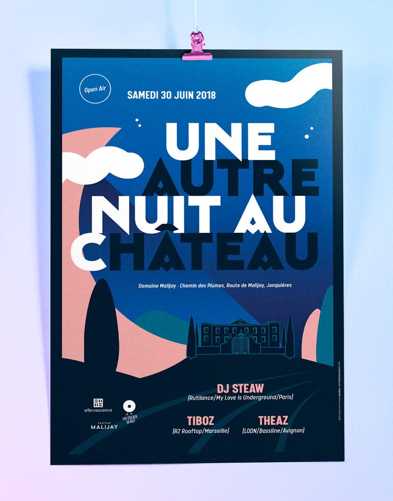 Affiche – Une autre nuit au château – Agence Effervescence Avignon