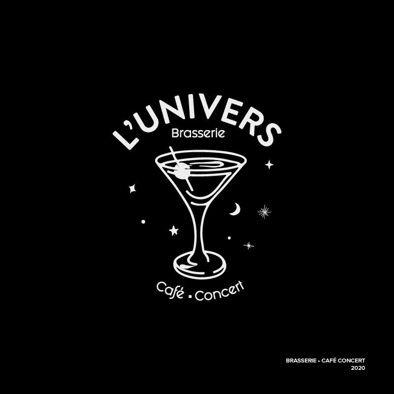 Logo – Brasserie L'univers – Agence Effervescence Avignon