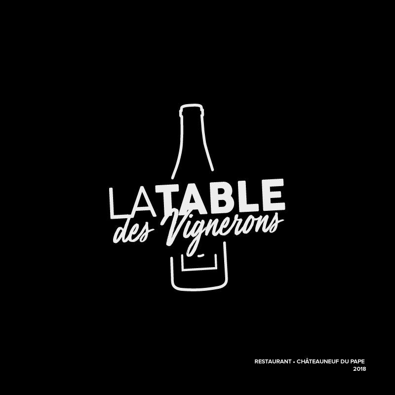 Logo – La table des vignerons – Agence Effervescence Avignon