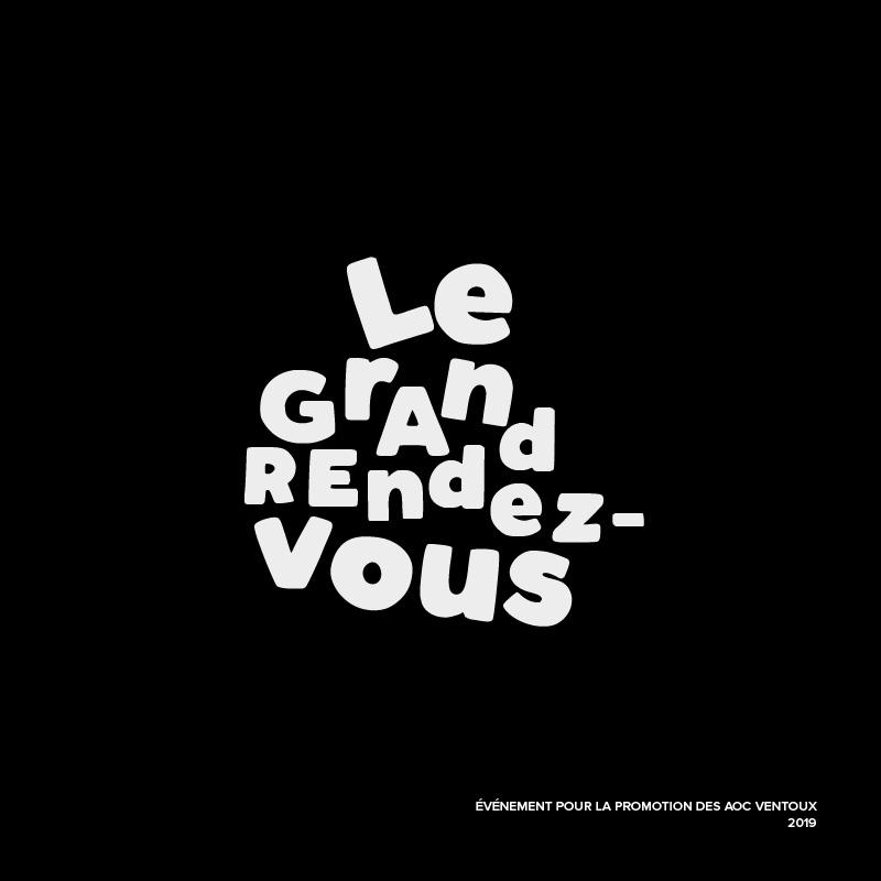 Logo – Le grand rendez-vous des AOC Ventoux – Agence Effervescence Avignon